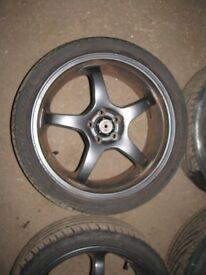 "Subaru Impreza 18"" Alloy Wheels & Tyres 5x100"