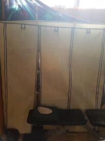 few months old beige triple canvas cupboard quick sale