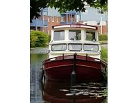 Dutch barge canal or river boat