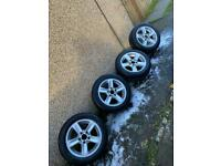 Bmw 16inch alloys with 4x winter tyres