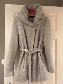 Ladie's grey coat size 12 new look