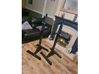 Bodypower adjustable bench/squat stands weights