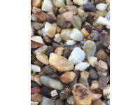 20 mm golden quartz garden and driveway chips/ stones/ gravel