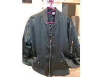 H&M girls size 10 dark green bonner jacket