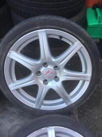 Fn2 alloys 5x114.3 type r Civic