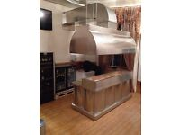 retail shop stainless steel commercial kitchen canopy restaurant takeaway chicken cafe bakery pizza
