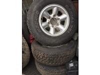 5 Mitsubishi Toyota etc Tyres 235/75/R15