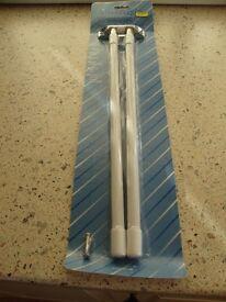 Brand New Dual Towel Telescopic Rail - Silver/White
