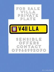 Private Number plate -Aston Villa