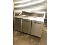 Williams pizza topping fridge, under counter preparation fridge
