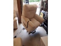 Parkel Knoll Electric Rise and Recline Chair ,2 Seater Sofa And Armchair