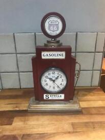 Lovely Retro Gasoline Metal Freestanding Clock