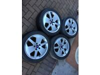 """17"""" Saab Alloy Wheels with Tyres"""