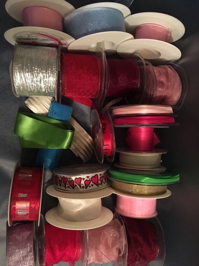 Various Fabric Ribbons - Minimum 200 meters all together!