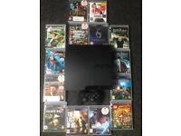 Sony PlayStation 3 Slimline 160Gb with 14 great games. Including Uncharted 1-3