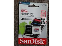 Micro SD Card with Adapter 128 gb