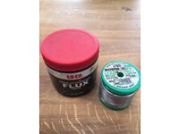 Brand new 475g (large tub) of La-Co Soldering Flux and 500g of lead free Solder wire,