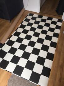 Chequered vinyl flooring