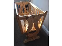 SWINGING CRIB- BESPOKE- SOLID ASH