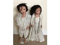 two Japanese dolls collectors items in pristine condition