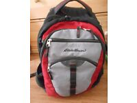 Black and Red Eddie Bauer Backpack: perfect for students