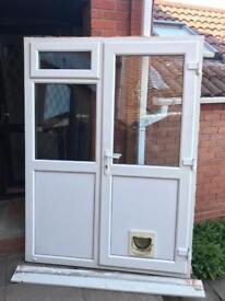 White Upvc Door withside Panel