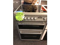 HOTPOINT 60CM CEROMIC TOP ELECTRIC COOKER IN SILIVER