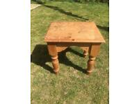 Small table coffee table/occasional table solid wood