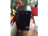 Slimline, black dishwasher, hardly ever used.