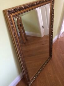 Gold Mirror 26-38 inches excellent condition
