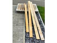 Free pallet and cladding for firewood