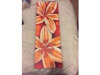 Orange floral picture
