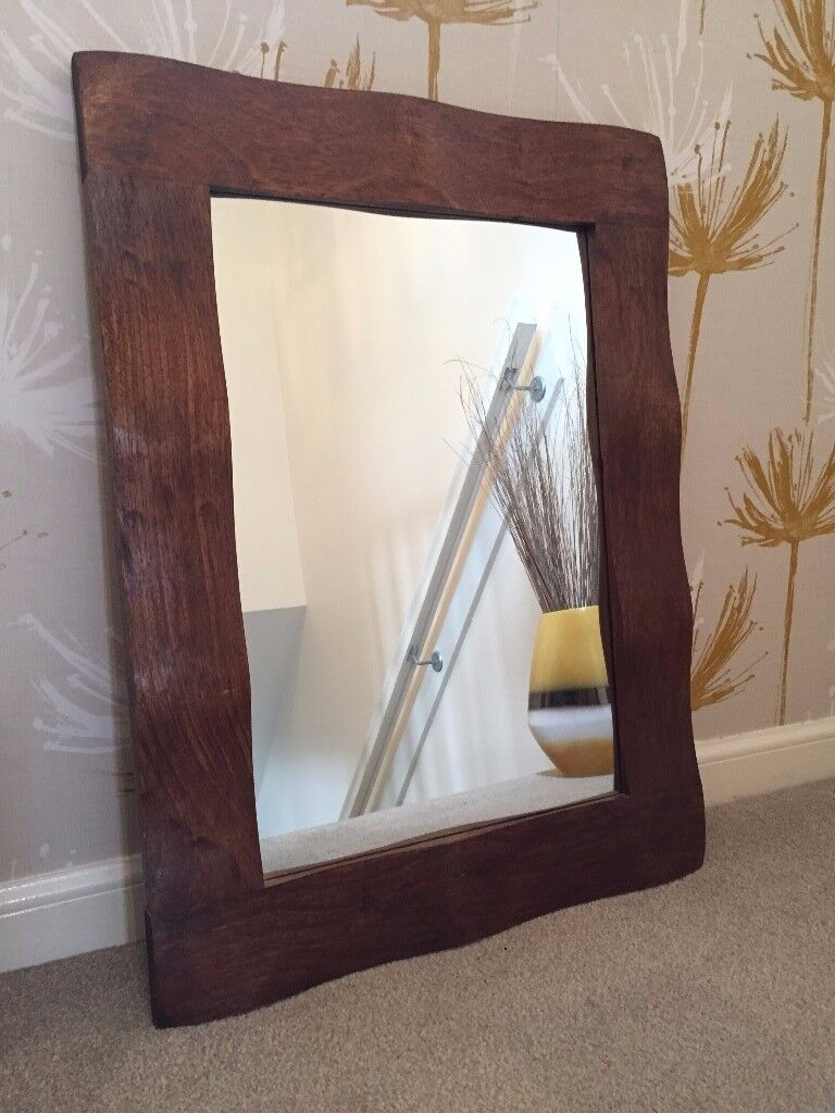Large Rustic Wooden Mirror In Stirling Gumtree