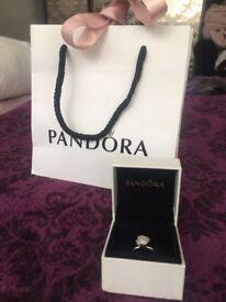 Brand New Pink Rose Pandora Ring