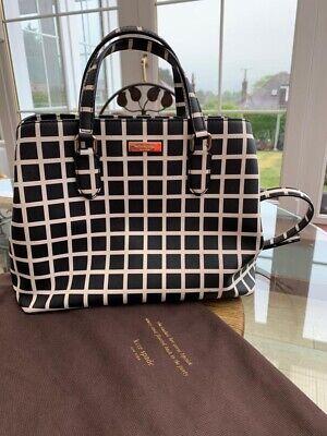 Kate Spade Checkered Black And White Handbag Bag Tote Crossbody Strap