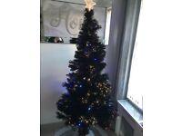 Black Fibre optic Christmas tree led lights base 🎄