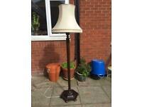 Victorian Period Mahogany Standard Lamp and Shade.