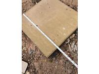 buff smooth paving slabs