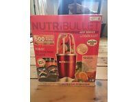 NutriBullet (Juicer) 12 Piece 600 Series - JUICER in Red + NEW/ UNUSED/ STILL IN BOX - Xmas Present!