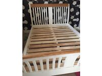 Double bed base cream and wood gorgeous