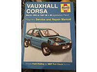 Vauxhall Corsa (93-97) Haynes manual - free to good home