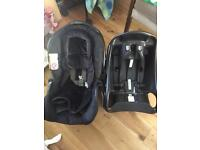 Graco baby car seat and carry cot