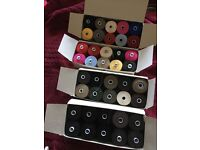 Thick thread 200m bobbins all different colours
