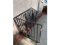 Stair wrought iron railing
