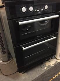 Hotpoint Black integrated oven with 6mth warranty