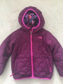 North Face reversible coat age 3-4