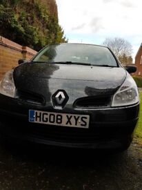 RENAULT CLIO 1.1 EXTREME 2008 MOT TO AUG 18.