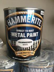 Hammerite White 750ml Metal Paint