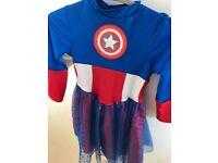 Captain America dress for a girl (5-6)