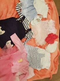 Babt girl clothes bundle 6-9 months and 9-12 months